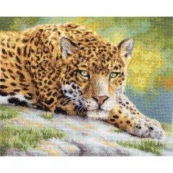 LETI 920 - ramus Jaguaras (Peaceful Jaguar) siuvinėjimo rinkinys Letistitch